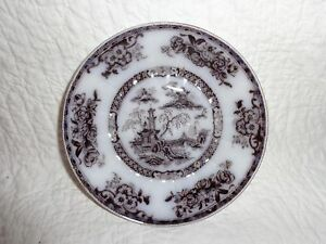 Antique Ironstone Pelew Flowing Mulberry Plate 6 Diameter 1800 S