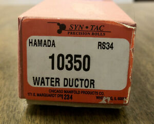 New Syntec Hamada Rs34 Press Roller Water Ductor 10350