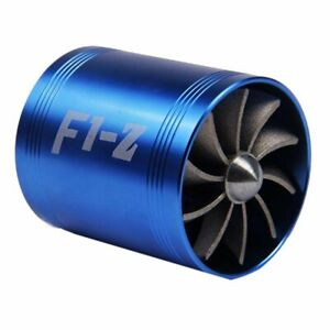 F1 Z Double Supercharger Turbine Turbo Charger Air Intake Fuel Saver Fan By For