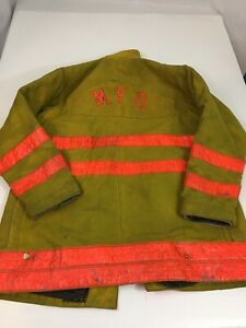 Morning Pride Vintage Firefighter Turnout Jacket 42x35 Bunker Coat With Liner