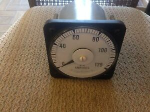 New Ge 125 Amp Panel Type Ammeter For Use With Current Transformer