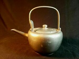 Antique Chinese Signed Pewter Teapot