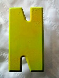 Vintage Metal Letter N Old Drive In Marquee Sign Board 7 1 2 Home Decor
