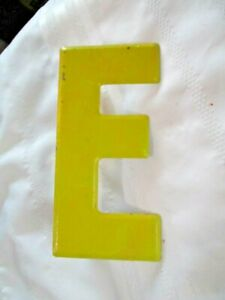Vintage Metal Letter E Old Drive In Marquee Sign Board 7 1 2 Home Decor