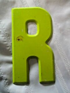 Vintage Metal Letter R Old Drive In Marquee Sign Board 7 1 2 Home Decor