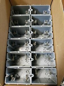Lot Of 12 Electrical Smart Box 1 Gang 22 5 c Adjustable Depth Device Cover House