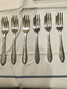 Loxley Pastry Fork Set Of 6 Sheffield England Fg E P N S