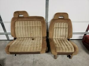 88 94 Chevy Gmc Truck Front Split Bench Seats With Manual Tracks Tan