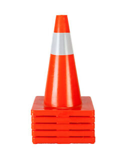 5pcs 18 Road Traffic Cones Reflective Overlap Parking Emergency Safety Cone