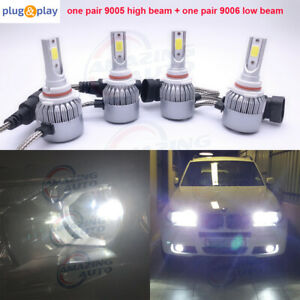 9005 9006 Combo Led Headlight High Low Beam 6000k White 55w 8000lm Wholesale