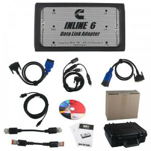 Inline 6 Data Link Adapter Heavy Duty Diagnostic Tool Scanner Full 8 Cable