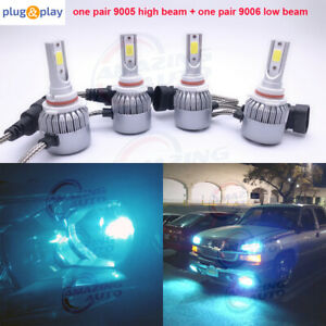9005 9006 Combo Led Headlights High Low Beam 8000k Ice Blue 55w 8000lm Wholesale