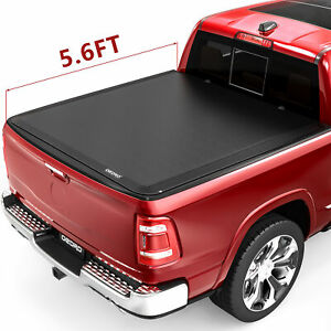 Oedro 5 8ft Bed Roll Up Tonneau Cover Fit For 09 18 Dodge Ram 1500 Fleetside Top