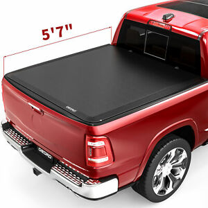 Oedro 5 8ft Bed Roll Up Tonneau Cover Fit For 09 19 Dodge Ram 1500 Fleetside Top