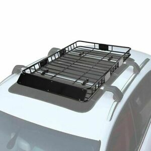 Universal 64 Roof Rack Car Top Cargo Basket Carrier W Extension Luggage Holder