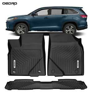Oedro Floor Mats Compatible For 2014 2019 Toyota Highlander Unique Tpe Liners