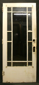 36 X83 Antique Vintage Arts Crafts Exterior Entry Door Window Beveled Glass Lite