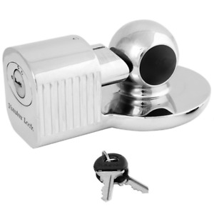 Lock For Trailer Coupler Tongue 2 5 16 Anti Theft Security Boat Rv Towing Hitch