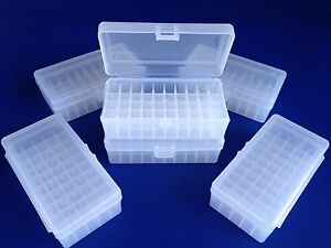 6 pack of 50 round plastic ammo boxes LP-50 Lrg Pis 44 mag 41 mag 45 long colt