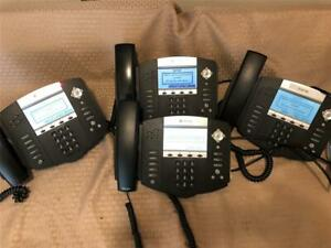 Lot Of 4 Polycom Soundpoint Ip550 Sip Digital Business Telephone W Ac Adapter