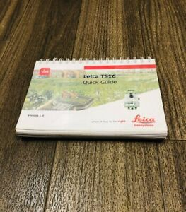 Leica Viva Ts16 Quick Guide User Manual Total Station Robotic Total Station