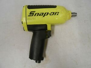 Snap On Mg725 Pneumatic Air Impact Wrench 1 2 Drive Fluorescent Yellow