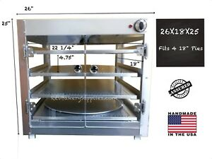 Food Warmer Display Case 26x18x25 4 18 Pizzas