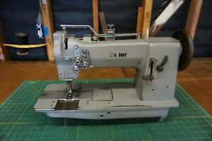 Adler 67 Double Needle Walking Foot compound Feed Industrial Sewing Machine