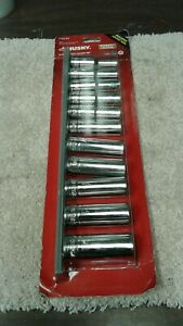 Husky 1 2 Drive 6 Point Deep Metric Impact Socket Set 10pc R22