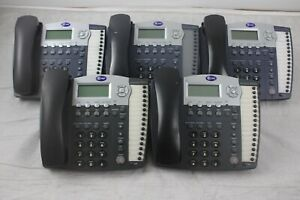 Lot Of 5 At t 984 4 line Small Business System Office Phones W Grey Handsets