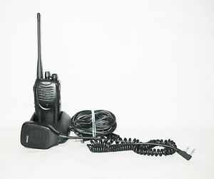 Recased Kenwood Tk 3160 16ch Uhf 450 490 Mhz 4w Portable Radio With Speaker Mic