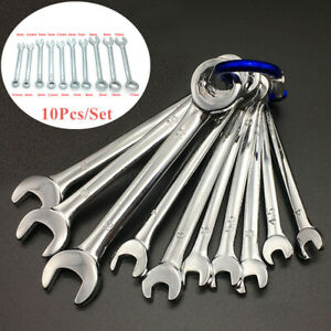 10x Combination Wrench Spanner Set 4 11mm Metric Small Engineer Spanner Tool Set