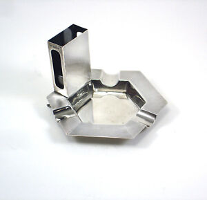Vintage Deakin Francis Sterling Silver Combination Ash Tray Match Box Holder