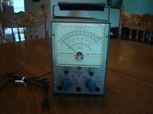 Vintage Voltmeter Rca Voltohmyst Wv 77e W Manual Test Equipment