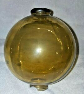 Antique Amber Glass Lightning Rod Ball