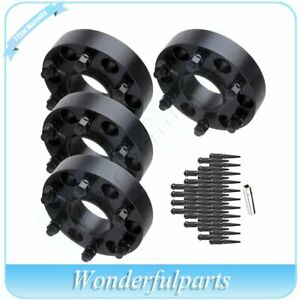 4x 1 5 6x5 5 6x139 7 Wheel Spacers 32 Pc Lug Nuts 1 Key For Chevy Avalanche