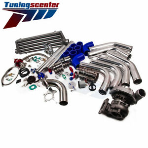 T3 t4 T04e Universal Turbo Charger Stage Iii bov intercooler 5 Bolt Downpipe Kit