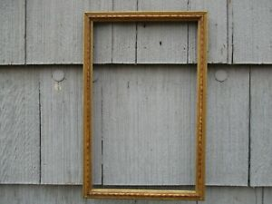 Vintage Mid Century Era Long Wood Picture Frame Withy Glass Fits 10 X 16