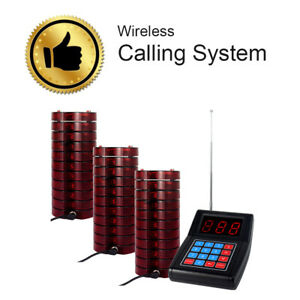Wireless Paging Calling System 1xtransmitter 20x Coasters Pagers For Restaurant