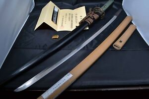 Japanese Samurai Real Sword Katana By Ietsugu Sharp Blade Koshirae Antique Nbthk