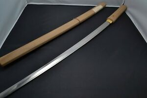 Japanese Samurai Real Sword Katana Sharp Steel Blade Shirasaya Edo Antique