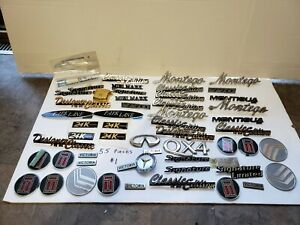 Huge Lot Of Import Domestic Auto Car Truck Misc Emblems