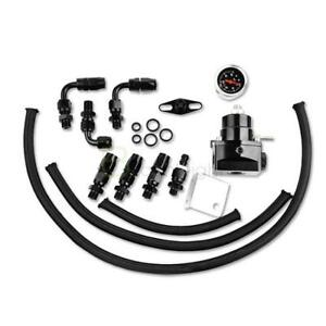 General Adjustable Fuel Pressure Regulator Kit An 6 End 100psi Gauge Black