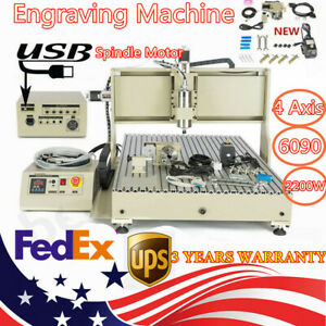 Usb 6090 4 Axis Milling Machine Engraving Machine 3d Router Engraver 2 2kw