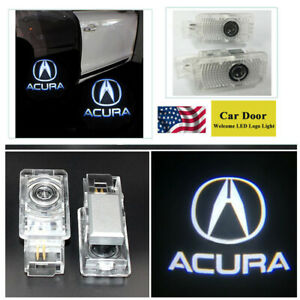 2pcs Led Car Door Light For Acura Tlx Rlx Mdx Tl Zdx Logo Ghost Shadow Projector
