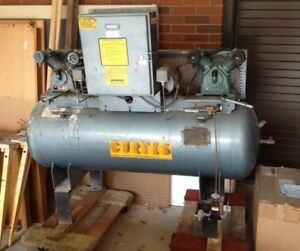 Curtis Twin Compressors And Tank Workhorse Stored Indoors