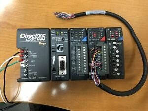 Direct Logic 205 4 slot Plc W Dl250 1 Cpu And 3 Modules Used
