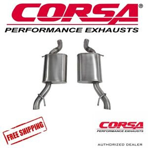 Corsa 2 5 Axle Back Performance Exhaust For 14 16 Cadillac Cts v 3 6l V6