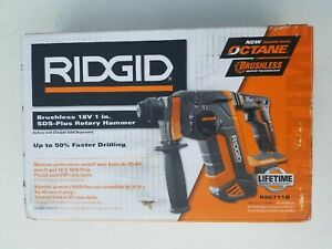 Ridgid R86711b 18 volt Gen 5x Brushless 1 Sds plus Rotary Hammer Tool Only