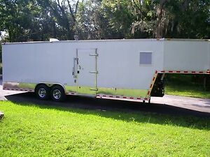 Refrigerated Custom Gooseneck Style Freezer Or Cooler Mobile Trailer New 2017